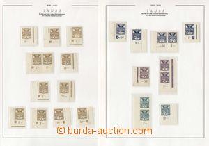 73498 - 1920 ČSR I. / HOLUBICE  Pof.143-150, sestava rohových kus�