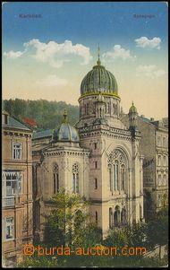 73518 - 1910 KARLOVY VARY (Karlsbad), synagoga; neprošlá, vzadu po
