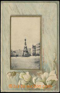 73520 - 1905 JINDŘICHŮV HRADEC - okénková koláž květiny, zlac