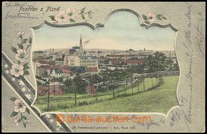 73523 - 1904 PLZEŇ - picture collage, decorated cut out and flowers