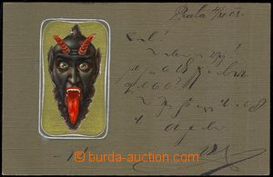 73533 - 1908 Old Nick, lithography, embossed, gilt; Us, preserved