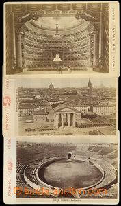 73537 - 1890 sestava 3 ks fotografií ze staré Itálie, 1x Miláno,