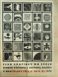 73541 - 1970 ART  promotional poster 4. exhibition Club graphic arti