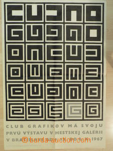73543 - 1967 ART  promotional poster 1. exhibition Club graphic arti