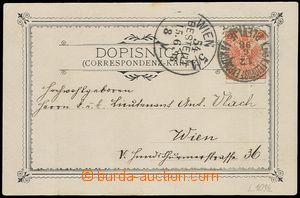 73544 - 1898 postcard Plevlje, franked. stamp. 5 Kreuzer, cancel. K.