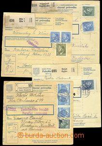 73651 - 1942 KT HODONÍN  4x větší část poštovní průvodky, a