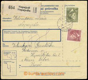 73653 - 1942 KT HODONÍN  větší část poštovní průvodky, adre