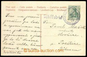 73670 - 1906 GERMANY  pohlednice zaslaná lodní poštou na jezeře