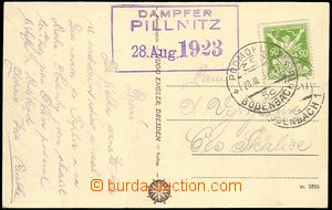 73730 - 1923 CZECHOSLOVAKIA 1918-39 / dampfer PILLNITZ/ 28.Aug.1923,