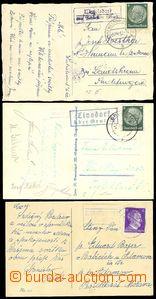 73741 - 1942 SUDETENLAND  comp. 3 pcs of Ppc, Postal Agency WATZELSD