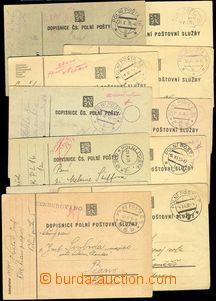 73768 - 1938 partie 15ks prošlých dopisnic PP, každé razítko ji