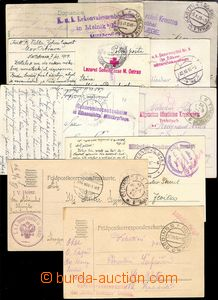 73773 - 1914-17 comp. 9 pcs of entires sent by FP, post.  CDS 6x fro