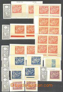 73776 -  Pof.173-75, sestava 14ks známek, obsahuje Pof.173A/ I., II.