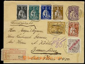 73785 - 1912 postal stationery cover Mi.U11 uprated with stamp Mi.20