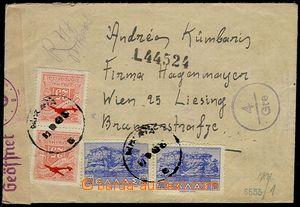 73795 - 1943 R+Let-dopis vyfr. zn. Mi.450 2x,472 2x, jedna zn. mírně
