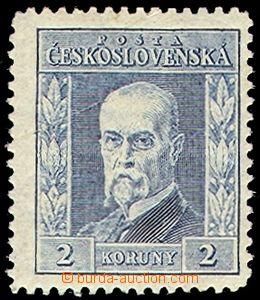 73811 - 1925 Pof.191 IA, 2Kč modrá, typ I., úzký formát, P3 ozn