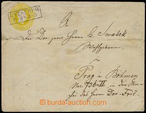 73813 - 1854 postal stationery cover Mi U10B to Prague, CDS KATSCHER