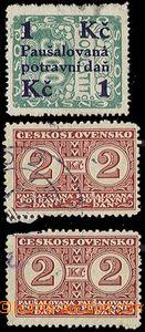 73828 - 1925-1935 Pof.PD5, PD8 2x (jedna poškozená), slabší otis