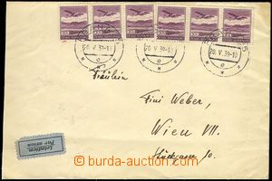 73859 - 1939 air-mail letter to Vienna, franked with. forerunner Cze