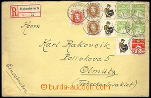 73867 - 1931 Reg letter to Czechoslovakia, franked with. stamps with