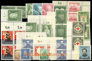 73870 - 1949-55 selection of 37 pcs of mint never hinged and postmar