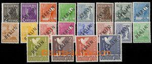 73884 - 1948 Mi.1-20, černý přetisk BERLIN, luxusní, zk. Dr. Dub