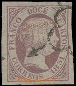 73891 - 1851 Mi.7, Queen Isabel II., value 12c, wide margins, c.v..