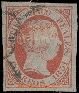 73892 - 1851 Mi.9, Queen Isabel II., value 5R, wide margins, c.v.. 2
