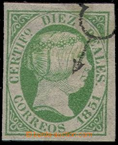 73893 - 1851 Mi.11, value 10R, very wide margins, c.v.. 450€