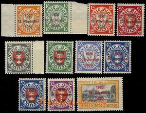 73906 - 1930 Mi.220-230, 10. Anniv, complete set, only Mi.230 *, oth