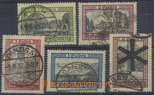 73908 - 1924 Mi.207-211, Buildings and country, complete set of, var