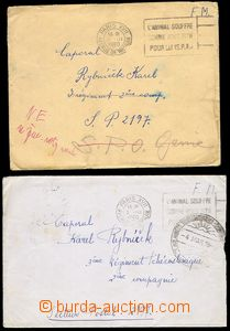 73918 - 1940 comp. 2 pcs of letters sent to Czechosl. soldier in fie