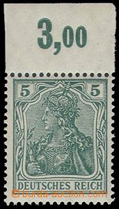 73927 - 1915 Mi.85 II.d, 5Pf Germania, sought blue-green shade, with