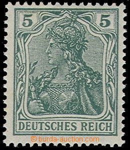 73928 - 1915 Mi.85 II.d, 5Pf Germania, sought blue-green shade, exp.