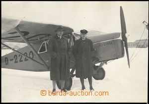 73947 - 19?? photograph company aircraft Dr. Simmera and Dr. Schulte