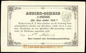 73953 - 1853 AUSTRIA  Actien-Schein, joint-stock order č.4485 for y