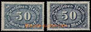 73965 - 1922 Mi.246b, value 50Mk, grey-blue, exp. INFLA Berlin, hing
