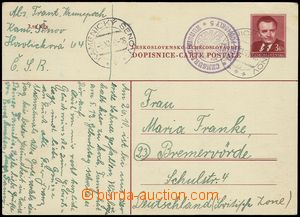 74022 - 1950 CENSORSHIP  PC CDV96 to Germany, round censorship mark