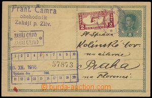 74024 - 1918 postal-agency ZAHÁJ (Zliv), Gebauer. 1544/2, neznárod