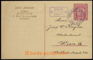 74025 - 1918 postal-agency CHRLOPY, Geb.558/2, Austrian PC Coat of a