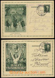 74030 - 1932 comp. 2 pcs of PC CDV48/2+3 with lighter postal agency