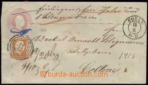 74032 - 1853? postal stationery cover Mi.U8 - format A, uprated stam