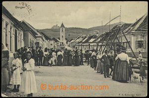 74033 - 1914 PERNÁ (Bergen) -  B/W view of village square with obyv