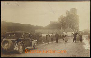 74034 - 1934 BECKOV - reálfoto v hnědém tónu, v pozadí hrad Bec