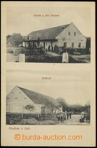 74038 - 1910? LUBY -  B/W,  2-view postcard, grange Alb.Thumse, Un,