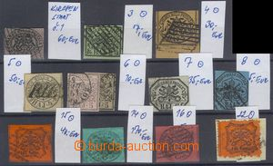 74071 - 1852-68 comp. 12 pcs of stamps, Mi.1, 3-8, 14-16, 22, 1x on