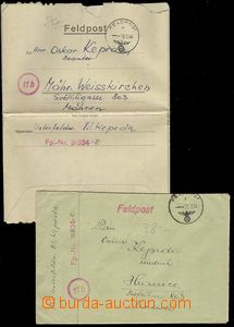 74085 - 1944 comp. 2 pcs of letters addressed from FP č.31834 to Bo