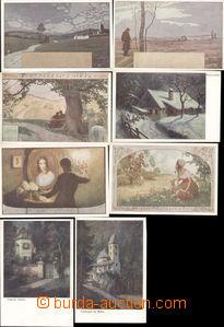 74087 - 1930 sestava 8ks pohlednic série BKW - různé náměty, ne