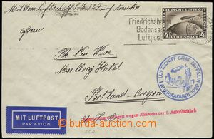 74110 - 1929 DEUTSCHLAND (GERMANY)  1. America Flight 1929, letter t