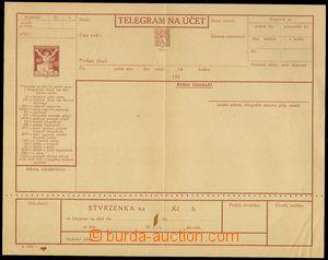 74124 - 1924 CTÚ3A, Czech text, perf 5½;, complete form/blank,